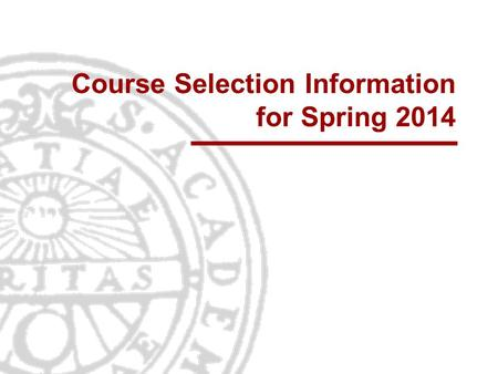 Course Selection Information for Spring 2014. Informationsteknologi Institutionen för informationsteknologi | www.it.uu.se University Admission Page 