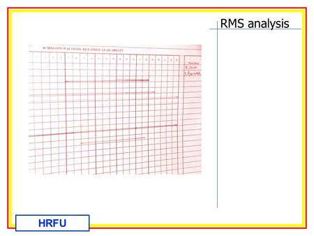 RMS analysis HRFU. RMS analysis HRFU Considering the new RMS system Introduced to HFRS recently and due to go live 01 April. Presented by HRFU March05.