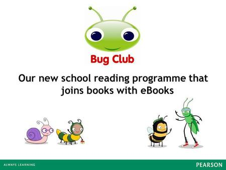Our new school reading programme that joins books with eBooks.