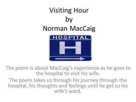 Hotel Room 12Th Floor By Norman Maccaig Essay