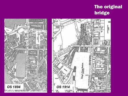 The original bridge. The 2004 Planning Brief Camden and Islington Joint Community Planning Brief 2003/4 page 59 3.3.20. A pedestrian and cycle bridge.