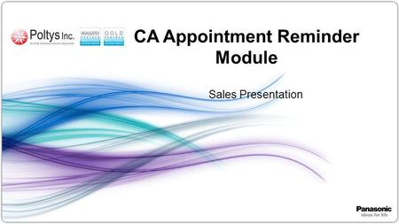 1 CA Appointment Reminder Module Sales Presentation.
