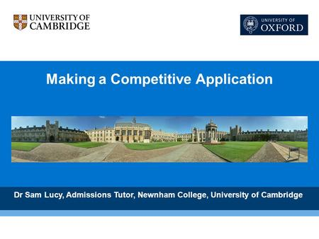 Making a Competitive Application