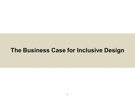 The Business Case for Inclusive Design