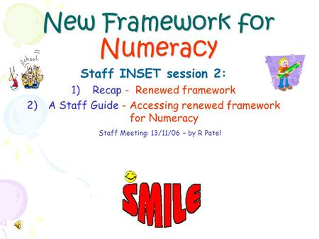 New Framework for Numeracy