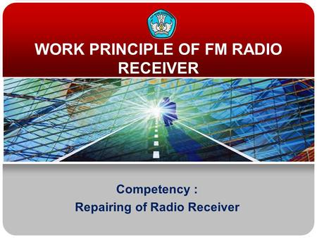 WORK PRINCIPLE OF FM RADIO RECEIVER