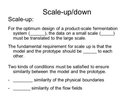 Scale-up/down Scale-up: