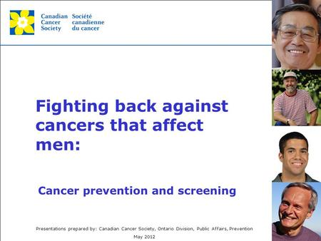 Fighting back against cancers that affect men: