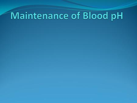Blood pH The normal pH of blood is around 7.35, which is the optimal pH for the majority of enzymes in our body. If the blood pH changes significantly,