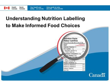 Understanding Nutrition Labelling to Make Informed Food Choices.