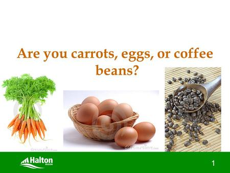 "1 Are you carrots, eggs, or coffee beans?. How to ""build and nurture"" resilience in your teen April 5, 2012."