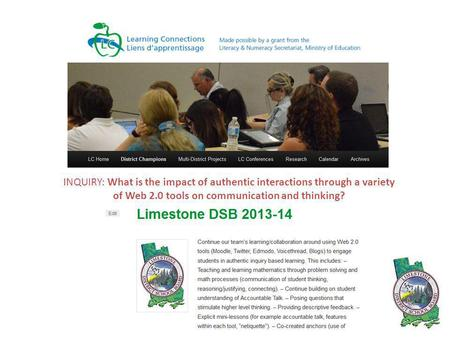 INQUIRY: What is the impact of authentic interactions through a variety of Web 2.0 tools on communication and thinking?