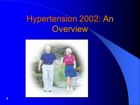 1 Hypertension 2002: An Overview. 2 Leading Risks For Death (World Health Organization 1995)