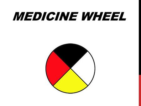 MEDICINE WHEEL. IMPORTANT It is very important to note, that what I am sharing with you is how I was taught. Everyone interprets it differently, but they.