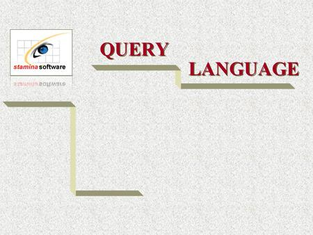 QUERY LANGUAGE. Option A Select A - for Amend in desired process Enter a fictitious code Press File name associated with this file will be displayed at.