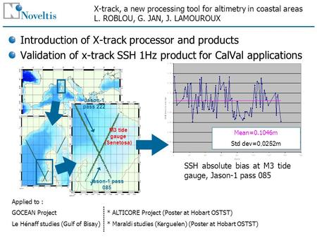 X-track, a new processing tool for altimetry in coastal areas L. ROBLOU, G. JAN, J. LAMOUROUX Introduction of X-track processor and products Validation.