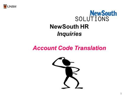 1 NewSouth HR Inquiries Account Code Translation.