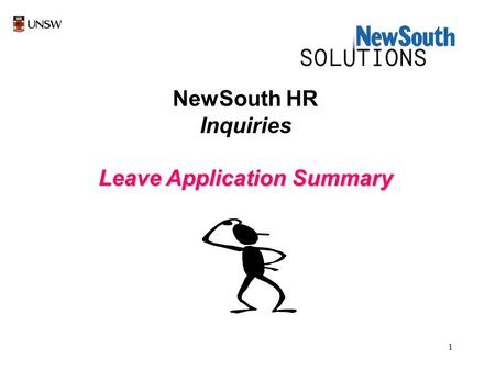 1 NewSouth HR Inquiries Leave Application Summary.
