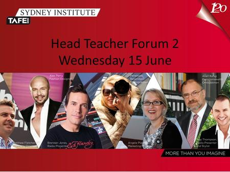 Head <strong>Teacher</strong> Forum 2 Wednesday 15 June. SI – Making it easier for Head <strong>Teachers</strong> Operations: what's it all about.
