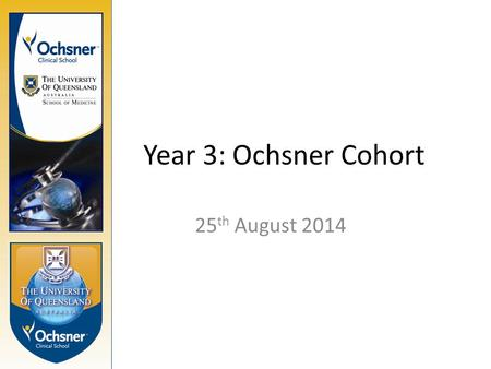 Year 3: Ochsner Cohort 25 th August 2014. Sign into Si-net.  with your UQ username and Passwordhttp://www.uq.edu.au.