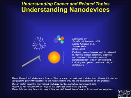 Understanding Cancer and Related Topics Understanding Nanodevices