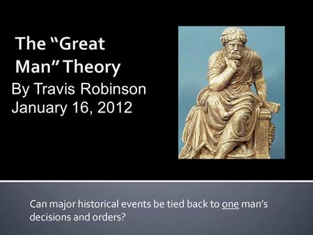 By Travis Robinson January 16, 2012Text. Read the following slides as I go through and answer the following question Directions.