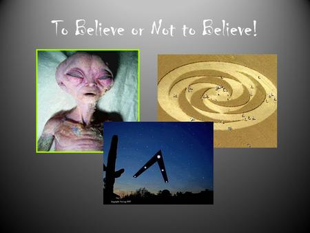 To Believe or Not to Believe!. Astronaut beliefs…