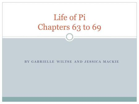 Discussion questions life of pi chapters ppt video online for Life of pi character analysis