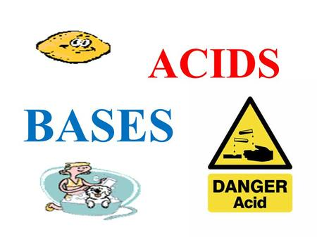 BASES ACIDS.  Identify acids and bases based on their pH.  Understand and balance a Neutralization reaction. pH Neutral Neutralization Key Words.