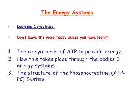 The re-synthesis of ATP to provide energy.