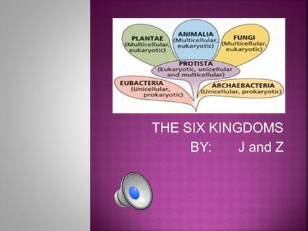 THE SIX KINGDOMS BY: J and Z. A kingdom made up of bacteria that live in extreme environments.