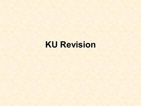 KU Revision. 'How Important' Questions In this sort of question you will be asked how important something is You are expected to discuss what is in the.