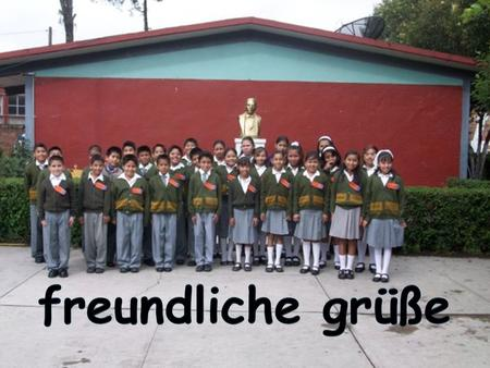 We are the students and professors of the primary school Lic. Benito Juárez.