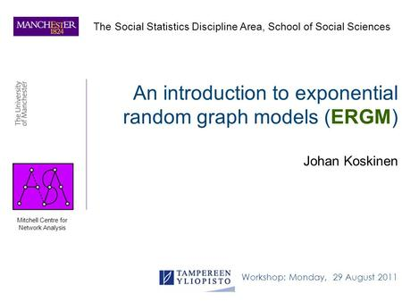 An introduction to exponential random graph models (ERGM)