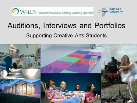 Auditions, Interviews and Portfolios Supporting Creative Arts Students.