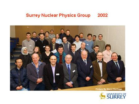Physics MSc Courses at Surrey MSc Medical Physics: Started 1973-4: Course Director Dr. C.E. Doust, followed by Nicholas Spyrou. Between 1973-2005, 732.