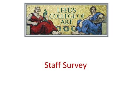 Staff Survey. Leeds College of Art Staff Survey Highlights December 2011.