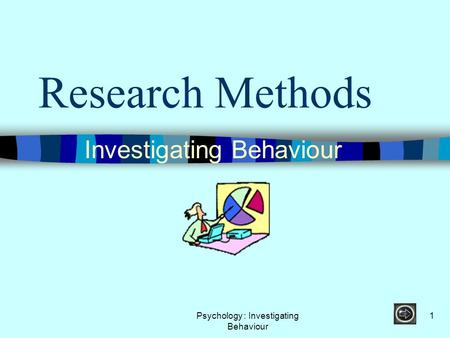 Psychology : Investigating Behaviour 1 Research Methods Investigating Behaviour.