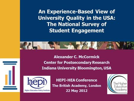 Nsse.iub.eduNational Survey of Student Engagement An Experience-Based View of University Quality in the USA: The National Survey of Student Engagement.
