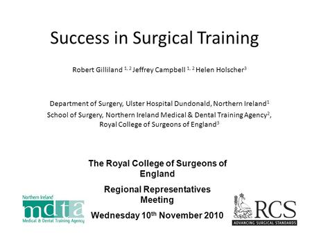 Success in Surgical Training