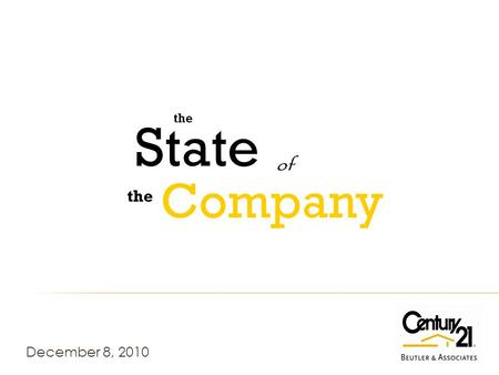 December 8, 2010 the of State Company. CDA MLS All Listings Inventory 1995- 2010.