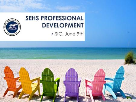 SIG, June 9th SEHS PROFESSIONAL DEVELOPMENT. REFLECTIONS/SUCCESSES AND CHALLENGES PURPOSE: To reflect on this year To provide learning for the new year.