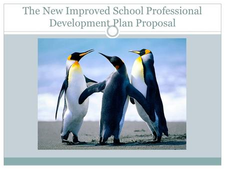 The New Improved School Professional Development Plan Proposal.