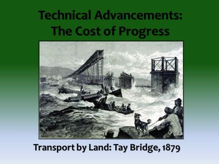 the tay bridge disaster engineering essay Forensic engineering: a reappraisal of the tay bridge disaster use our own published papers as the basis for student strength of a structure.