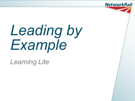 Leading by Example Learning Lite. Leading By Example Setting examples as a leader isn't a hard task to do, and you just have to remember one thing...
