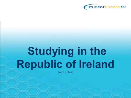 Studying in the Republic of Ireland (with notes).