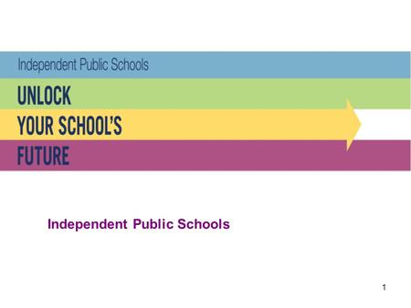1 Independent Public Schools. 2 The Independent Public Schools initiative honours the State Government's commitment to hand greater control to schools.