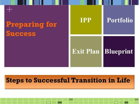 + Preparing for Success IPP Exit Plan Steps to Successful Transition in Life Portfolio Blueprint.