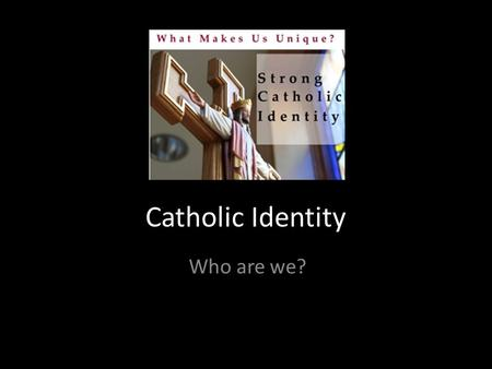 Catholic Identity Who are we?. EiCE Domain 1 - Catholic Life and Religious Education 1.5 RELIGIOUS LIFE OF THE SCHOOL (Elements- Nurturing The Story;