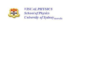 VISUAL PHYSICS School of Physics University of SydneyAustralia.
